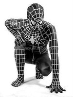 Halloween Spandex zentai costume red blue or black Spiderman latex costume fancy suit QAMC-2335