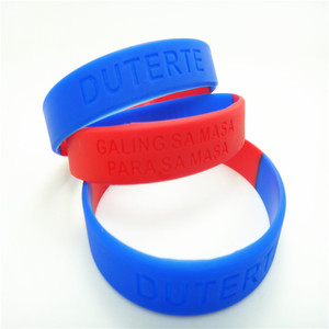 DUTERTE color segmentation debossed silicone wristband , The cheapest price silicone rubber band /name rubber band bracelet