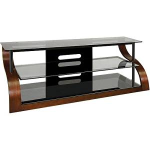 Buy Bello 3 Shelf Curved Wood Flat Panel Tv Stand For Tvs Up To 70