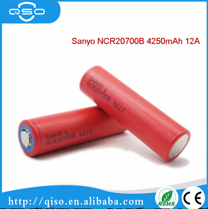 Hottest selling 20700 battery ncr20700b made in Japan for sanyo