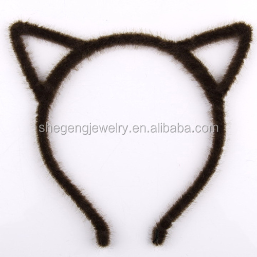 Black Grey cheetah leopard print cat kitten ears headband & Black Grey Cheetah Leopard Print Cat Kitten Ears Headband - Buy ...