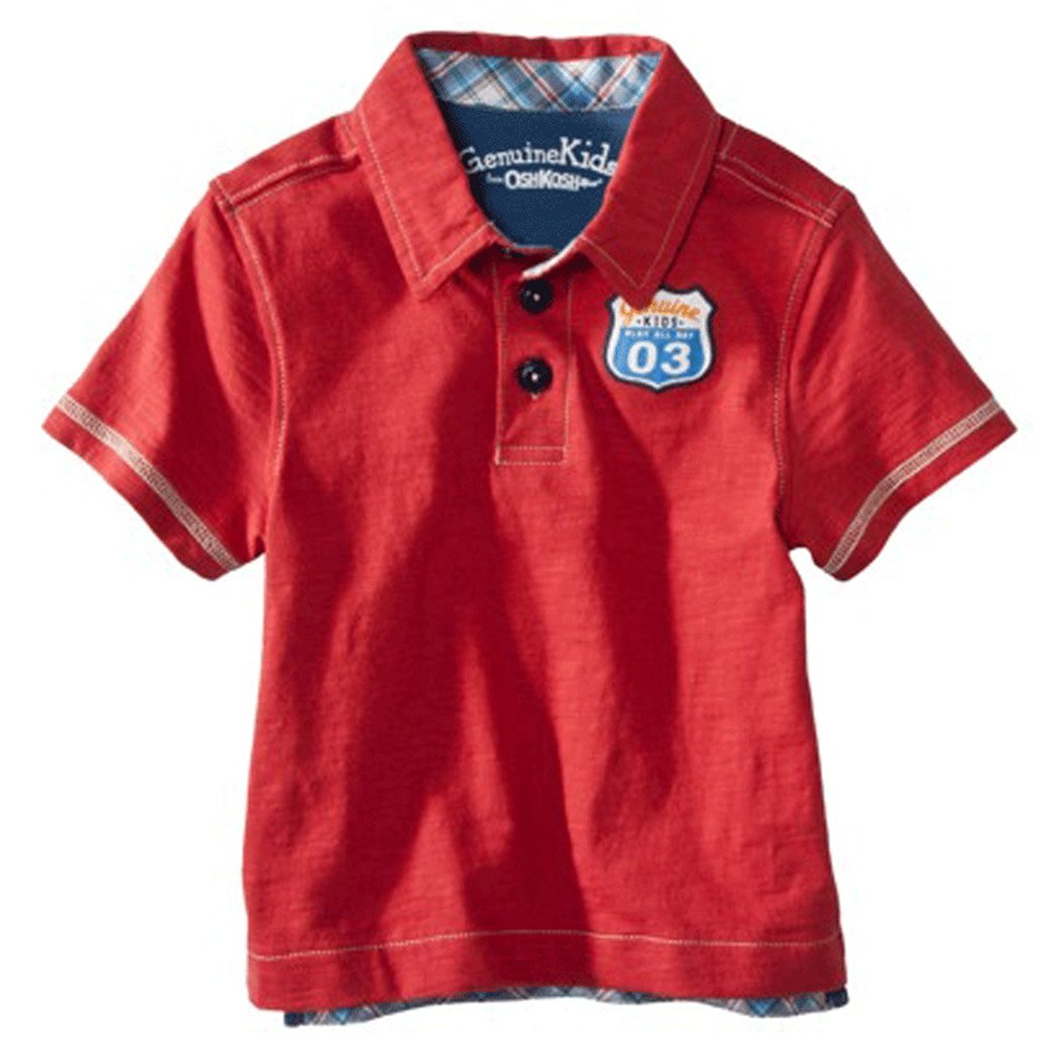a9920240 Get Quotations · Genuine Kids Made By Oshkosh Infant/Toddler Boys Short  Sleeve Polo Shirt Red
