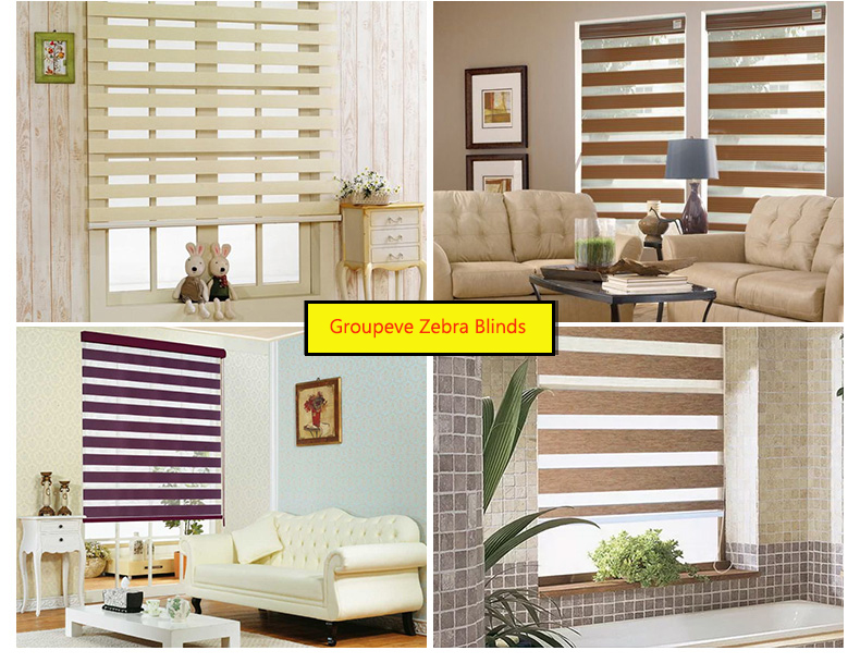 China Decor Privacy Zebra Blind For Office Window Screen