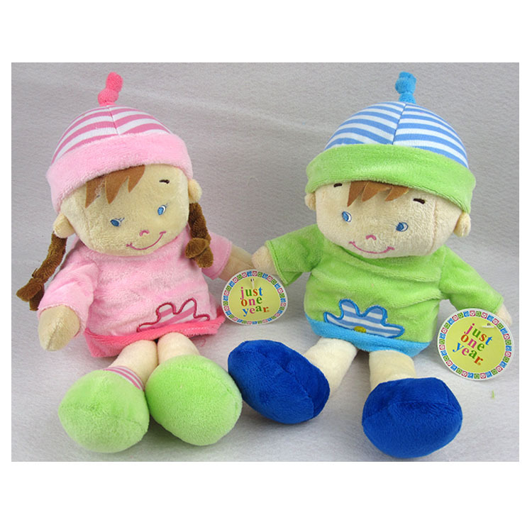 High Quality Boys Girls Soft Cute Appease Baby Toys Bell Hanging Toy car bed hanging Doll