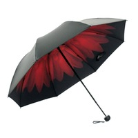 New products 2017 innovative product 3 folding umbrella automatic with logo for advertising