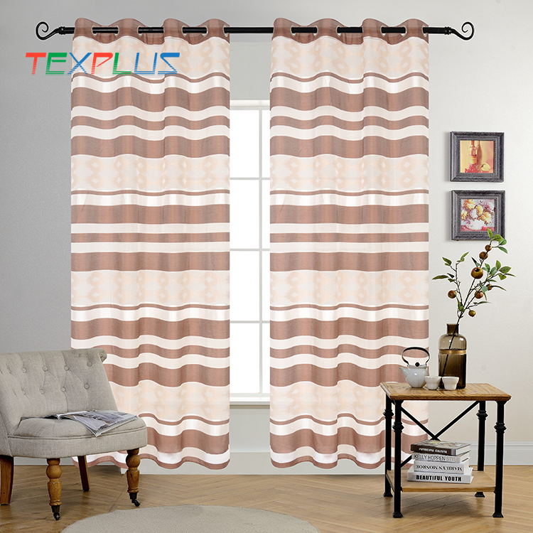 Top Selling Elegant Turkish Living Room Striped Curtain Fabrics Turkey