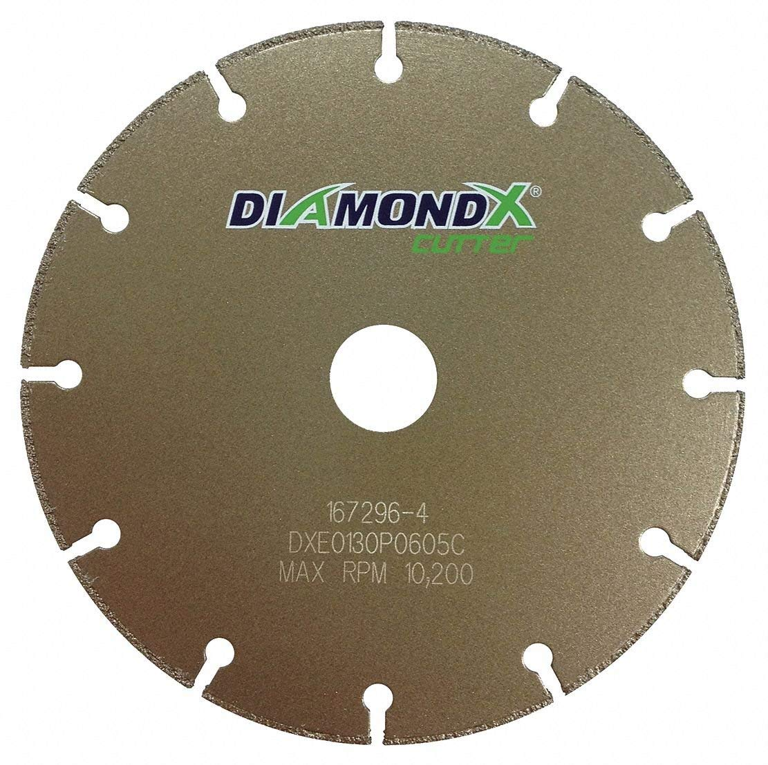 "5"" Type 1 Diamond Abrasive Cut-Off Wheel, 7/8"" Arbor, 1/2""-Thick, 12,225 Max. RPM"