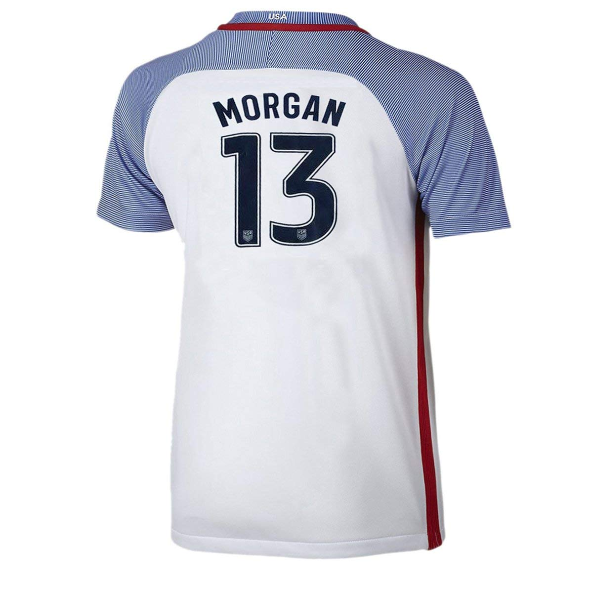 59026e821 Get Quotations · Morgan  13 USA National Women s Alex Home Jersey White