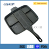 2016 Popular divided 5 in 1 cast iron grill master pan , ECO friendly