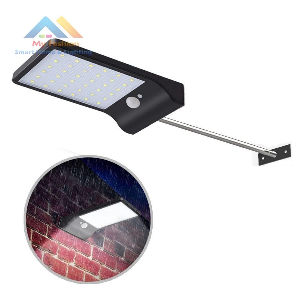 Solar LED Outdoor Gutter Light Wireless Patio Fence Waterproof Security Lighting