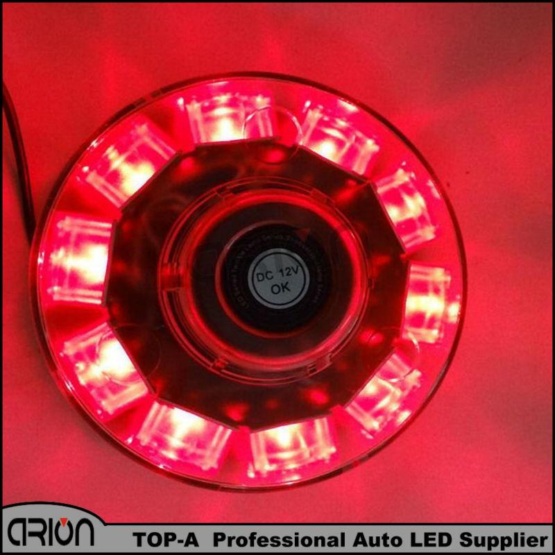 12 В 10 из светодиодов автомобилей аварийное освещение маяка бар строб предупреждение ламп красного цвета 7 режимы вспышки