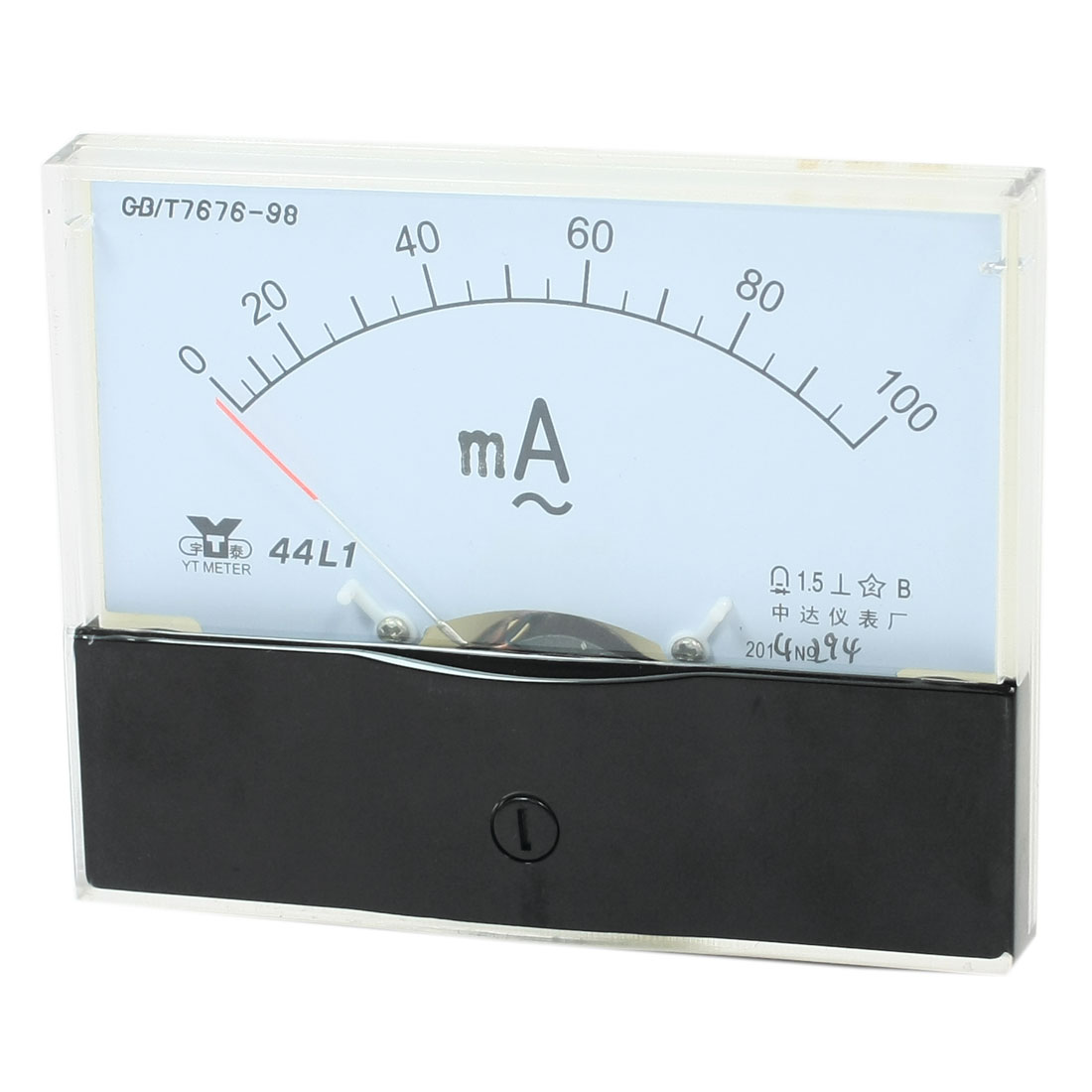 Buy 44l1 0 100ma Ac 100ma Accuracy Vertical Mounted Analog Ammeter