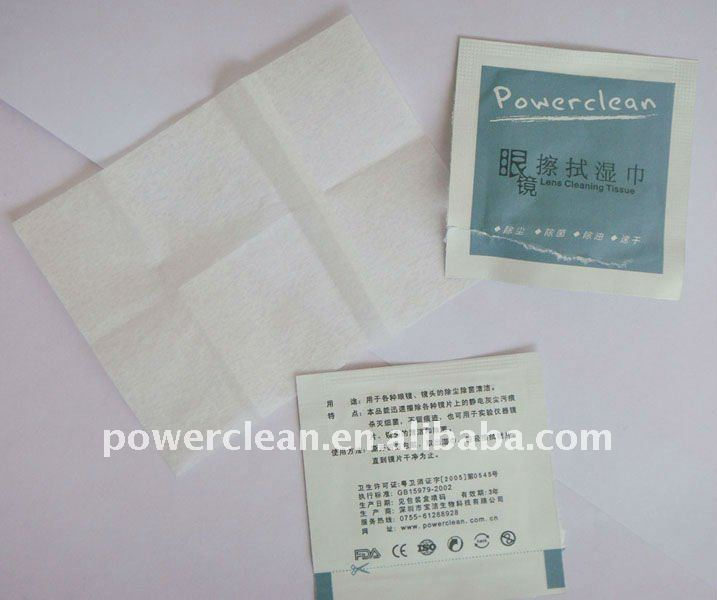 Lens/Glass/Screen/LCD Moisten Traceless Cleaning Wipes