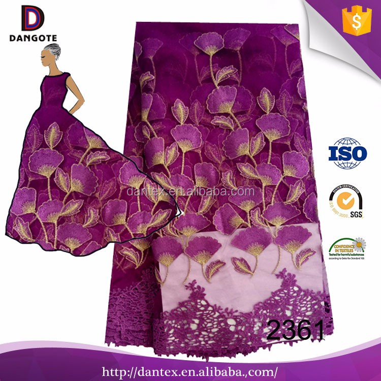 New design beautiful pattern nigerian tull lace /handwork french lace fabric for african nigerian aso ebi style purple