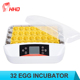 Newest full automatic eggs incubator in dubai egg hatching machine price with LED light egg candle CE approved