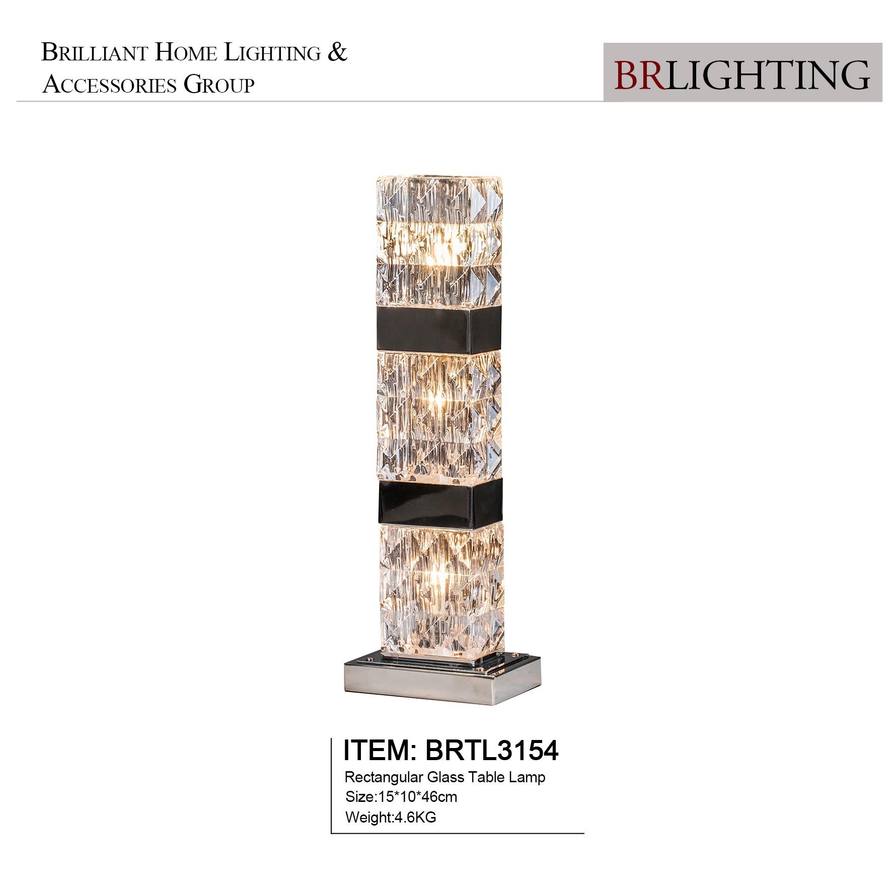 Rectangular Glass Table Lamps
