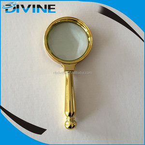 OEM Plastic Electroplating magnifying glass x10