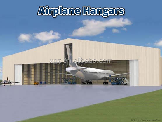 Metal airplane hangars