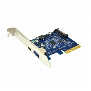 PCI-E to USB 3.1 2-Port PCI Express Card Adapter with 15-Pin Power Connector PCI-E USB 3.1 Hub Controller Adapter
