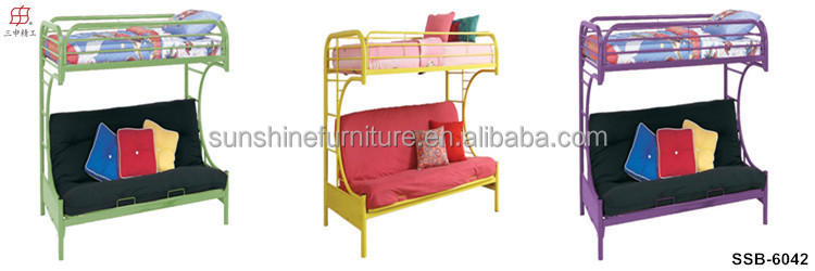 China factory cheap metal sofa bed double deck bed buy for Cheap double deck bed