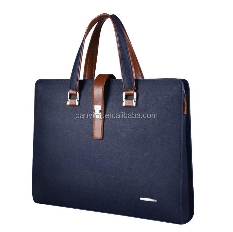 Genuine Cow Leather Mens Bag File Bag 14