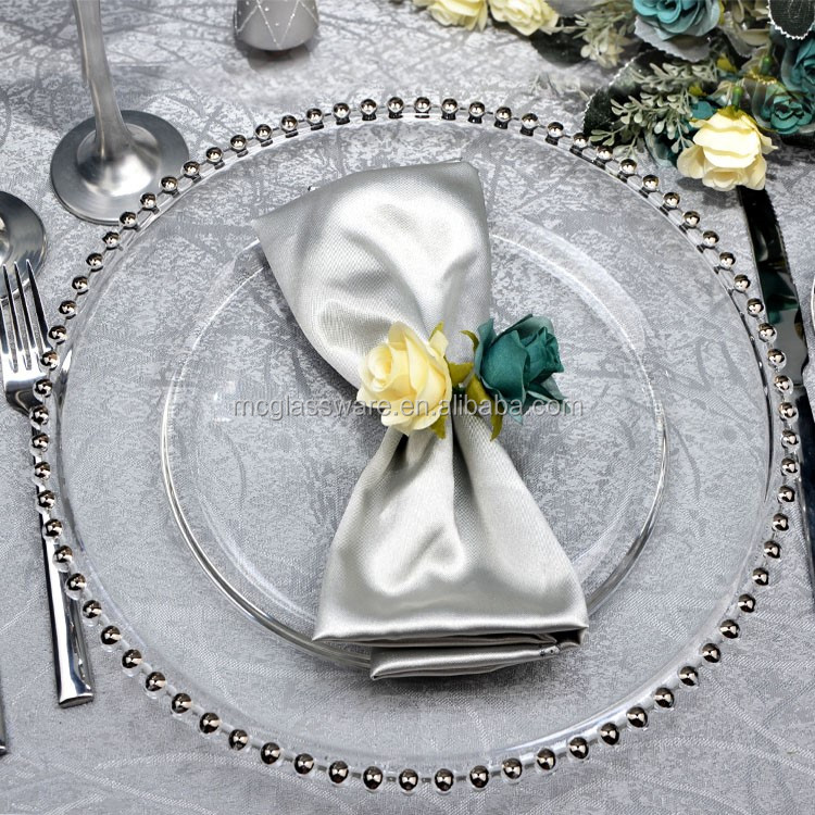 high quality wedding gold silver chargers plates wholesale