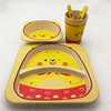 Factory direct Lovely Bamboo Fiber baby dinnerware sets
