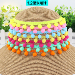Cotton Tassel Lace Trimming Lovely Pom Pom Lace Trim For Garment Accessory