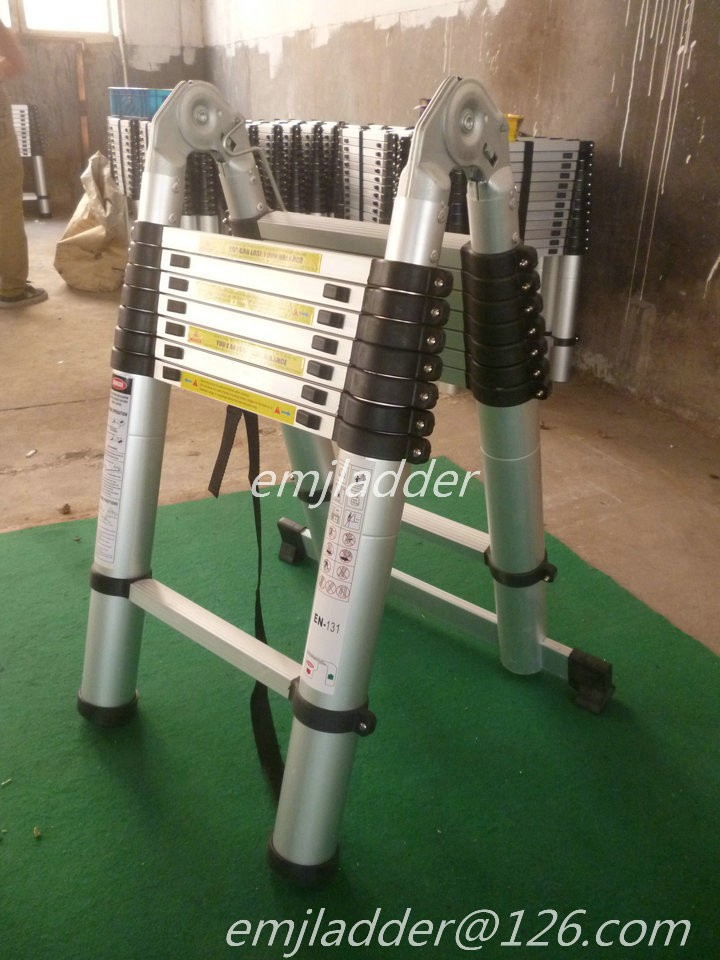 5 6 m magia telesc pica escalera de aluminio con en131 for Precio escalera telescopica aluminio
