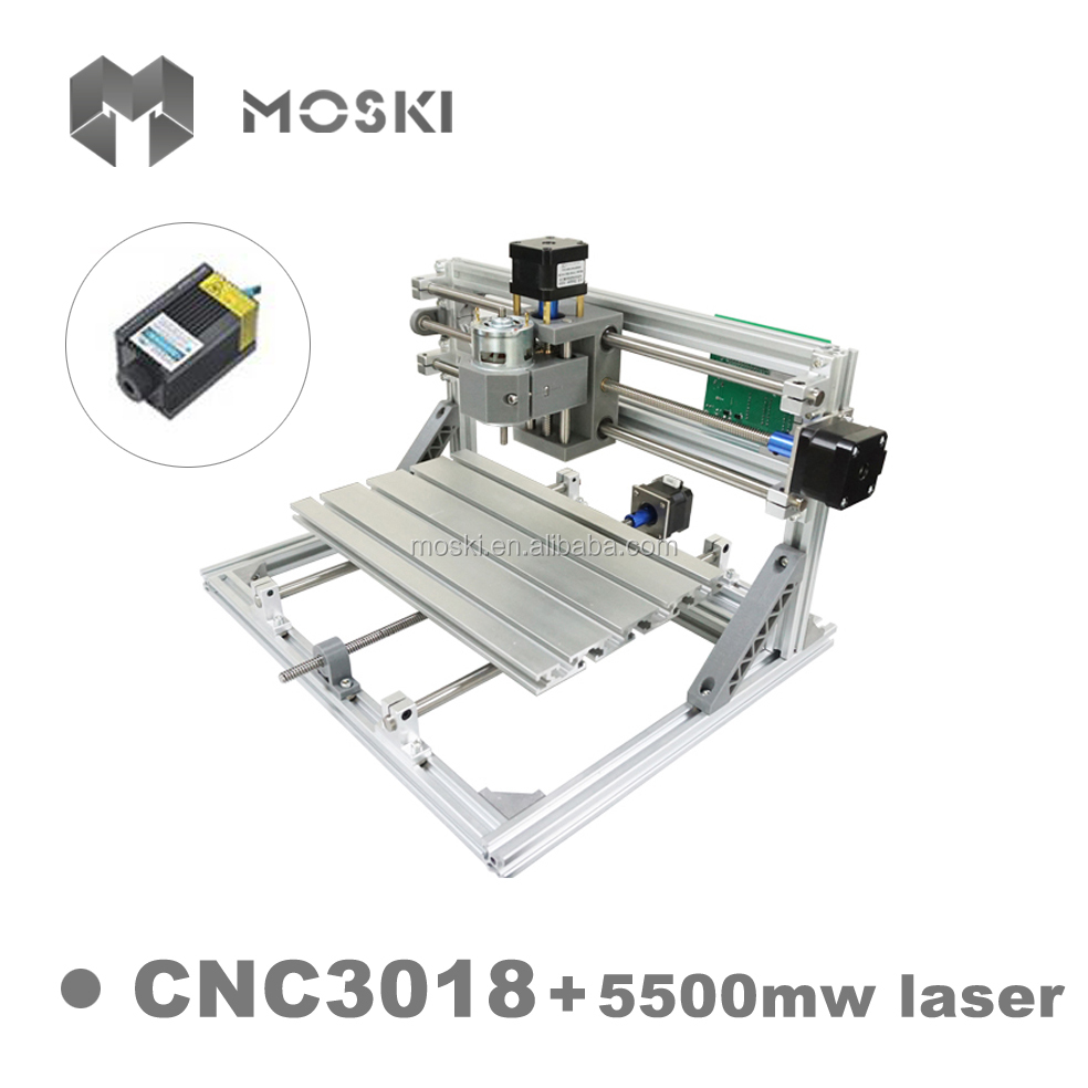 <strong>CNC</strong> 3018 ER11 with 5500mw laser 3 Axis Pcb DIY <strong>cnc</strong> engraving router Machine