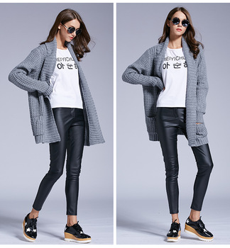 Amazon Hot Style European And American Ladies Loose Knit Sweater