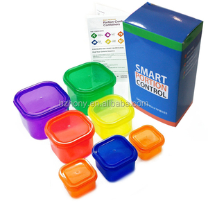 Control Containers / Kit for Weight Loss (7pcs) With COMPLETE E-GUIDE, Leak Proof, Ideal Food Storage...
