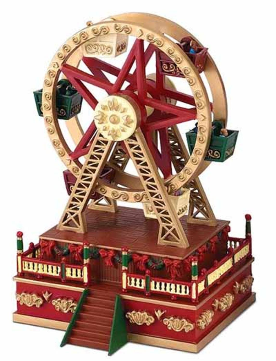 get quotations mr christmas animated ferris wheel carnival ride music box decoration 19802