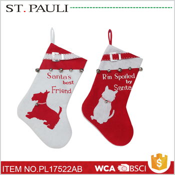 chinese funny pet ornaments holiday decorative dog christmas stockings with wholesale price - Funny Christmas Stockings