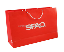 Handle Flower Soap Advertising Wash Tissue Yiwu Seremban Red Kraft Paper Bag With Window