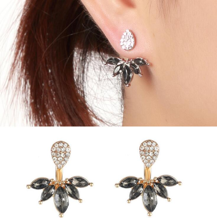 New Wholesale High Quality Clear Crystal Marquise Earring For Women
