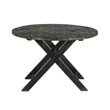 Retro Rustic restaurant home handcraft Scandinavian modern industrial vintage recycled wooden furniture folding round table