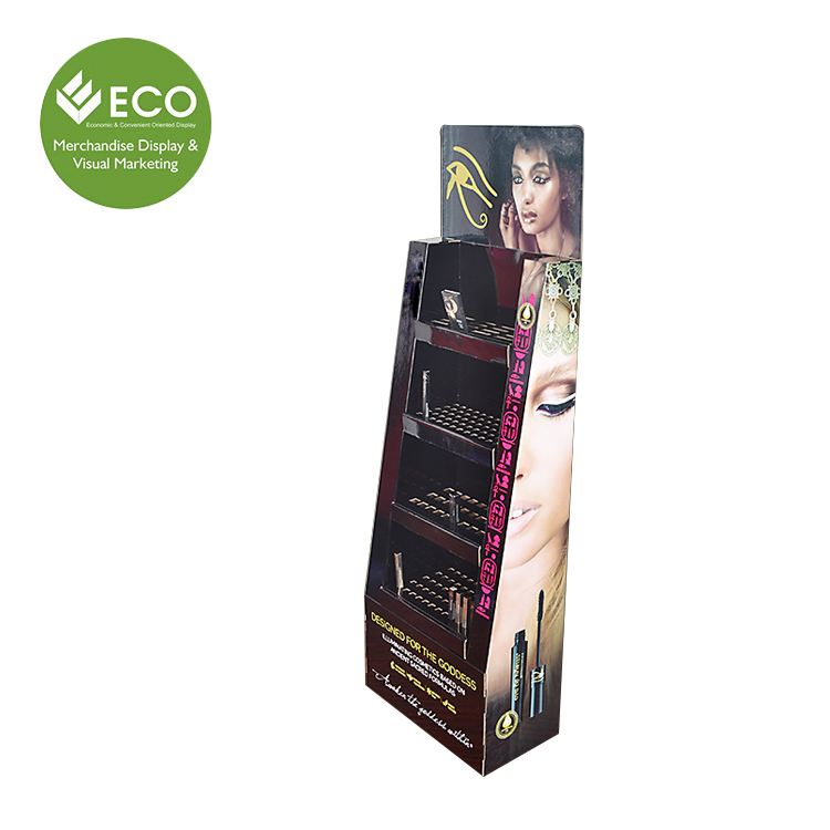 Makeup Lipsticks /Make Up Cosmetics Cardboard Floor Display Unit