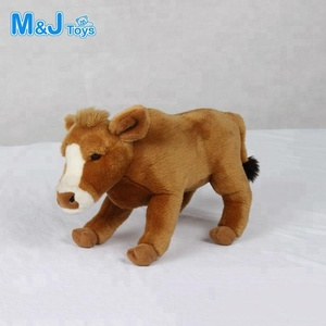 plush wild ox toy stuffed animated wild animal yak toys