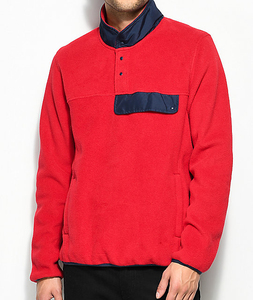 unbranded product customized contrast style no hood red sweatshirt