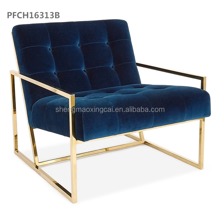 Large lounge gold finger chair