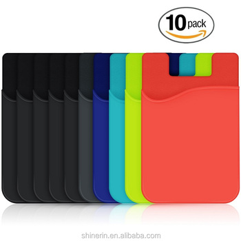 promo code 7885f 38725 Cell Phone Wallet Silicone Credit Card Id Holder With Adhesive Stick-on  Fits All Smart Phones - Buy Cell Phone Wallet,Creadit Card Holder,Silicone  ...