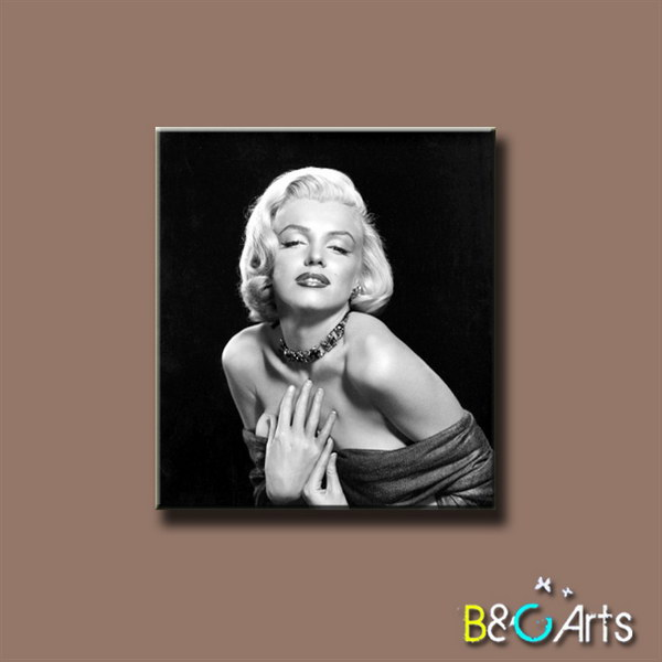 05HTK (41) new arrival stretched printed modern marilyn monroe portrait painting