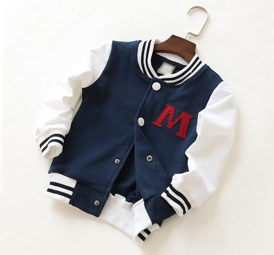 2016 spring little kids clothes baseball jacket