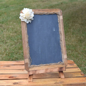 Custom Wedding Decor Natural Solid Wood Frame Photo Prop Children School Price Blackboard