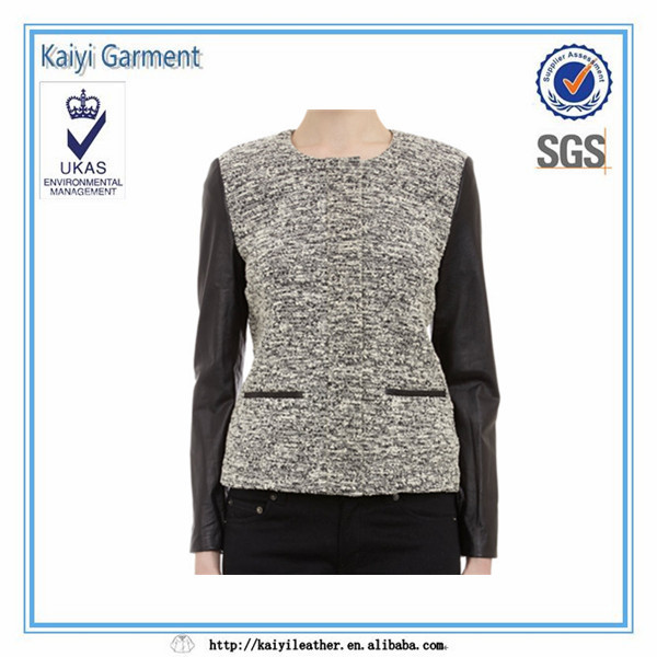 Double color women jackets garment buying office