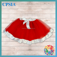 Beautiful red Christmas baby skirts party baby skirts infant baby birthday skirts