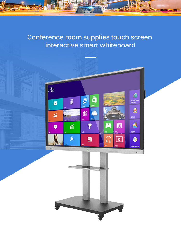 Chinese Fabrikant OEM ODM Hoge Resolutie Multi Touch Screen 75 inch Interactieve Whiteboard