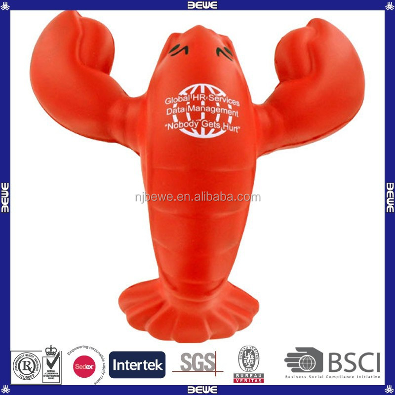 China manufacture bulk custom pu foam toy/ pu lobster