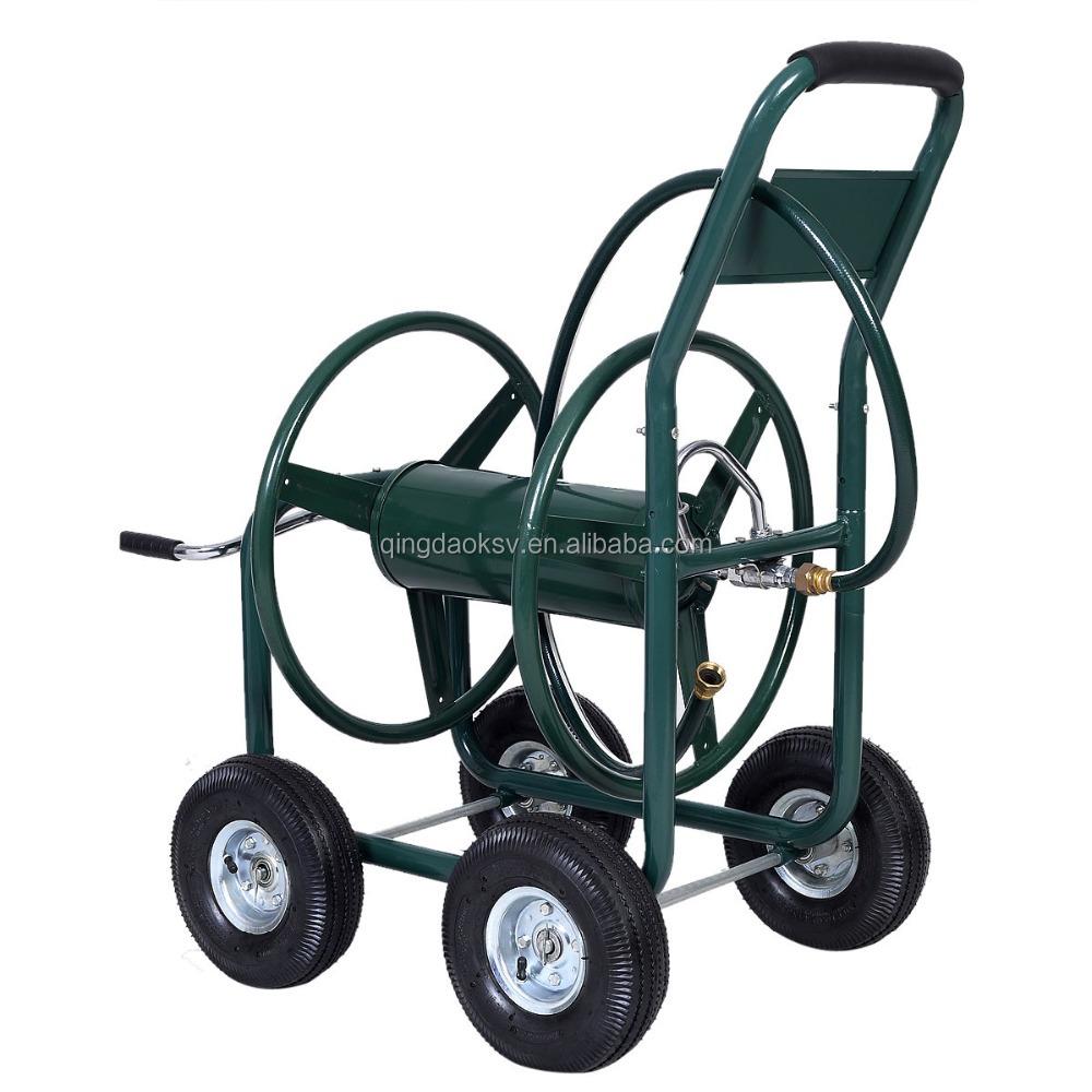 metal four wheel garden hose reel cart metal four wheel garden hose reel cart suppliers and at alibabacom - Garden Hose Reels